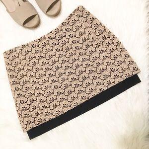 DVF  Elley Mini Acorn Lace Mini Skirt • PLL